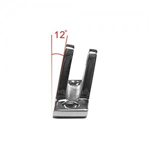 MSC® Bimini Top Stainless Steel Angled Deck Hinge with Removable Pin,1EA