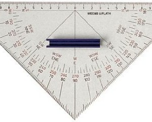 Weems & Plath Marine Navigation Protractor Triangle with Handle
