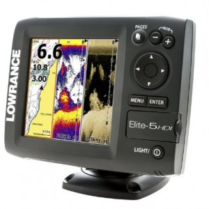 Lowrance Elite-5 HDI Combo with Navionics Gold U.S. Charts and 50/200-455/800KHz Transducer