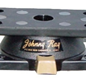 Johnny Ray JR-400 Marine 1.25 by 2.875-Inch Top Push-Button Release Portable Sonar Swivel Mount, Black Finish