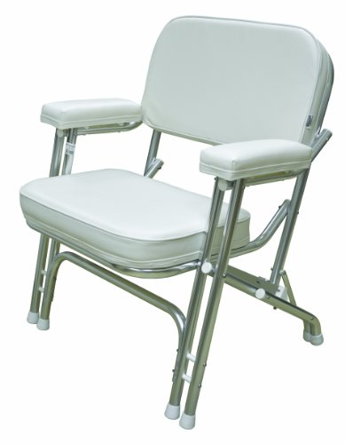 Wise Folding Deck Chair With Aluminum Frame White Bay Marine