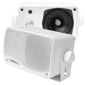 PYLE 3.5-Inch 200 Watt 3-Way Weather Proof Mini Box Speaker System