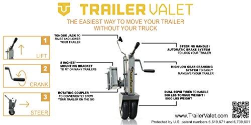 Trailer Valet V211 Silver Tongue Jack Dolly
