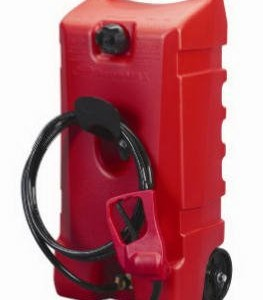 Scepter 06792 Flo N' Go Durmax Fuel Container, Wheeled, Red, 14-Gallon