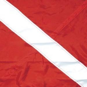 SeaSense Nylon Diver Down 3 Tier Flag, 20-Inch x  24-Inch