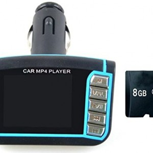 FINIGO 2014 Newest version Car MP3 MP4 Player Wireless FM Transmitter with Remote Control Supports USB SD Slot +8GB Card