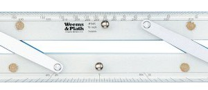 Weems & Plath Marine Navigation Parallel Ruler (Aluminum Arms, 15-Inch)