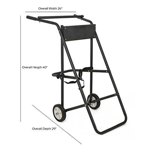 ARKSEN© Outboard Boat Motor Trolling Stand Carrier Cart Dolly Storage 130lb