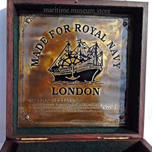 8 Inch Maritime Antiques Marine Captain Sextant - Brass Nautical Sextant. C-3083