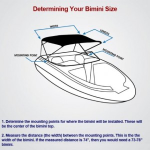 Komo Pontoon Boat Bimini Top Cover Canopy