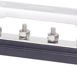 Blue Sea Systems Common 150A BusBar with Four Terminal of 20 1/4-Inch Studs with Cover
