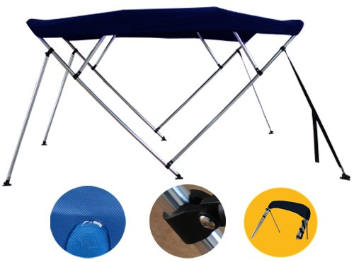 Brightent Bimini Top 6 Different Size 3-4 Bow Boat Canopy Cover with Free Support  sc 1 st  Bay Marine & Brightent Bimini Top 6 Different Size 3-4 Bow Boat Canopy Cover ...