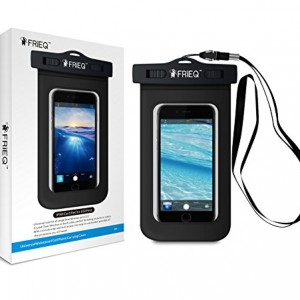 FRiEQ Universal Waterproof Case Bag for Outdoor Activities - Perfect for Boating / Kayaking / Rafting / Swimming - Waterproof bag for Apple iPhone 6S, 6, 5S, 5C, 5; Galaxy S6, S4, S3; HTC One X, Galaxy Note 3, Note 2; LG G2 - Protects your Cell Phone or MP3 Player from Water, Sand, Dust and Dirt - IPX8 Certified to 100 Feet