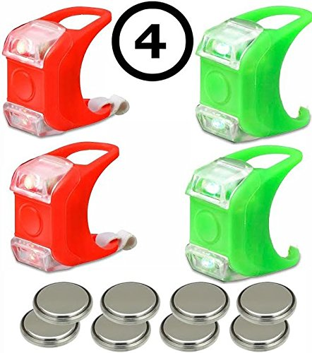 2 Green & 2 Red Portable Marine LED Boating Lights -