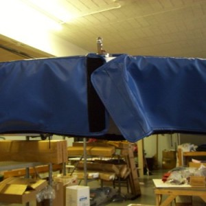 Premium Storage Boot for Pontoon Top Sunbrella Capt Navy