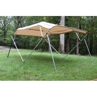 New Beige/tan Pontoon / Deck Boat Vortex 4 Bow Bimini Top 8