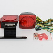 "Amarine-made Boat Marine Pair LED Square Light Kit Trailer Under 80"" Tail Stop Brake"