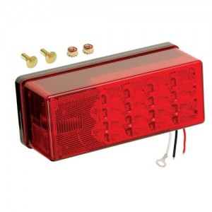 """1 - Wesbar 3"""" x 8"""" Waterproof LED 8-Function, Left/Roadside Tail Light"""