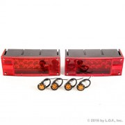 (2) LED Submersible Combination Trailer Tail Lights Boat & (4) Amber Side Marker