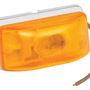 Wesbar Side Marker/Clearance Light with White Stud-Mount Base, PC Rated