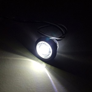 """5 NEW RecPro 3/4"""" RV MARINE BOAT INTERIOR WHITE ROUND LED ACCENT LIGHTS IP65 RECESSED MOUNT 12v"""