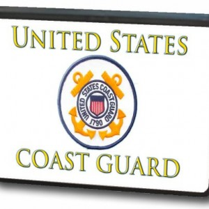 "2"" U.S. Coast Guard Trailer Hitch Cover"