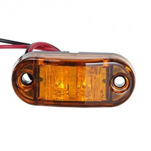 Partsam 2X Trailer Truck Surface Mount LED Oval 2.5