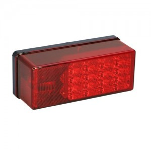 """1 - Wesbar 3"""" x 8"""" Waterproof LED 7-Function, Right/Curbside Tail Light"""