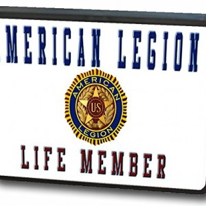 "2"" American Legion Life Member"
