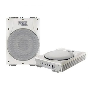 Pyle 10-Inch 1000 Watts Low-Profile Super Slim Active Amplified Marine/Waterproof Subwoofer System - Set of 1
