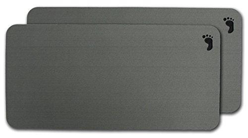 "2-Pack of Evateak Anti-Slip Bench Pads 18""x9.5"" Gray"