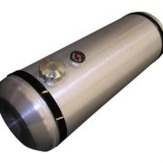10x30 End Fill Round Spun Aluminum Gas Tank with Site Gauge- 10 Gallons - Trike - Offroad - Ratrod - Hotrod - Dunebuggy