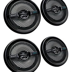 "4) Sony XS-MP1611b 6.5"" 280 Watt Dual Cone Marine Speakers Stereo Black XSMP1611"