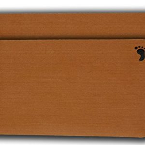 """2-Pack of Evateak Anti-Slip Bench Pads 18""""x9.5"""" - Brown"""