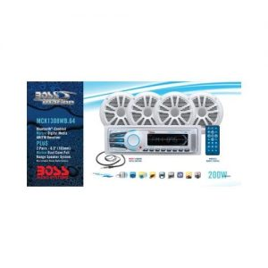 Boss Audio Boss Mck1308wb64 Marine Combo Kit (Mechless Head Unit)