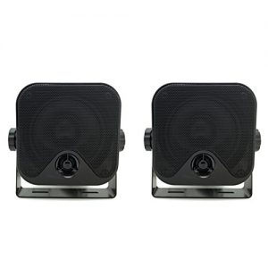 "4"" Heavy Duty Waterproof Boat Marine Box Outdoor Speakers Surface Mounted 1 Pair(100w)"