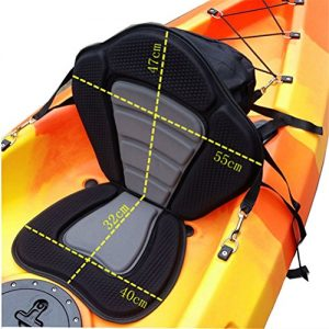Adjustable Deluxe Padded Kayak Seat Pad Backrest Cushioned