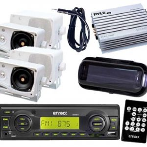 200W Indash Marine Media Receiver 4 x 3.5