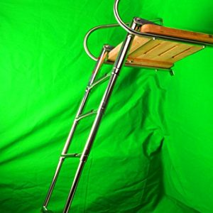 Amarine-made Boat In-board Swim Teak Platform with 4-steps Stainless Ladder
