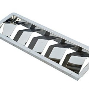 "Amarine-made Boat Marine Stainless Steel Vent - 5 Louver 12-3/4 X 4-3/8""--07727s5"