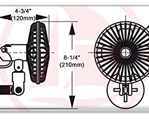 12v Electric Suction Cup Mount Cooling Fan for Boat, Rv & Caravan - Five Oceans - Five Oceans