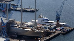 Motor Yacht A Meets Sailing Yacht A