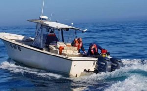 Coast Guard Assists Boaters Taking On Water