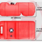 Marine 6 Gallon Reinforced Portable Fuel Gas Tank W/gauge for Boat - Five Oceans