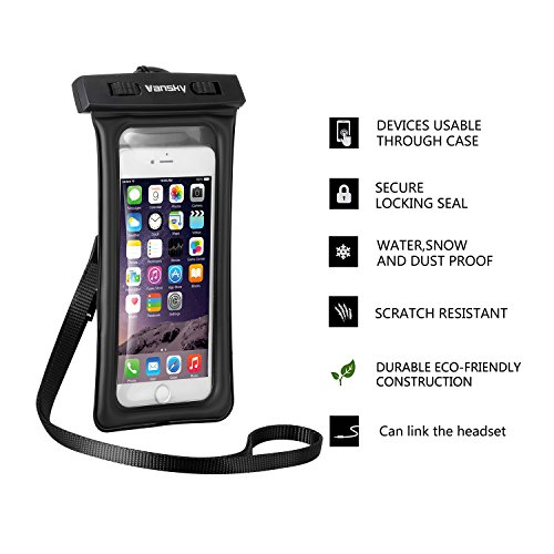 new product 9b28a 70a2f Vansky® Floatable Waterproof Case Dry Bag with Armband and Audio ...