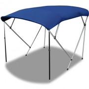 Oceansouth 4 Bow Bimini Top in Blue, Black or Grey Available in Six Different Sizes