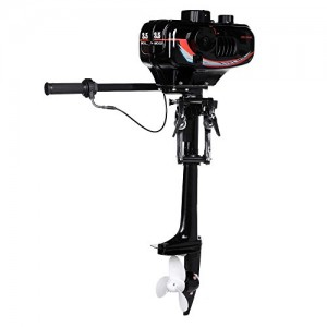 Ancheer 3.5HP Ship Outboard Motor Boat Engine Updated With 2 Stroke Water Cooled